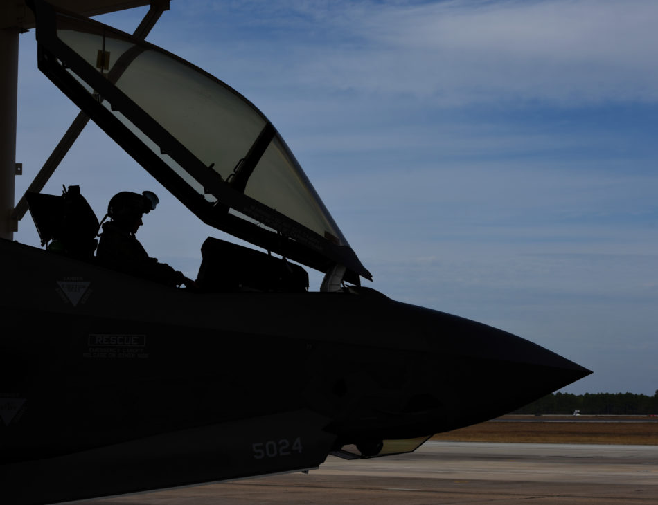 Il muso dell'F35