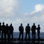 Sul ponte della portaerei russa