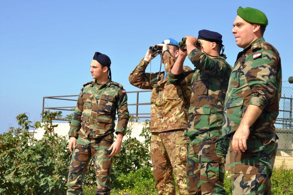 Esercitazione congiunta Esercito Italiano esercito Libanese (Foto Esercito Italiano)