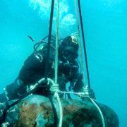 Palombari ordigno bellico a Messina (foto Marina Militare)