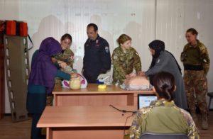 primo soccorso polizia afgana (foto Aeronautica Militare)