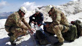 Artificieri degli Alpini sulla Marmolada (foto esercito italiano)