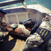 Palombari del Gas disinnescano ordigni (foto Marina Militare)