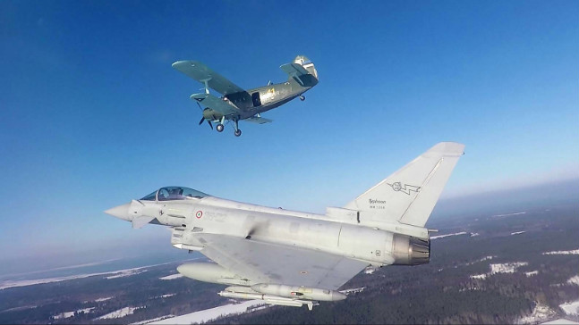 Air policing in Estonia per gli eurofighter dell'aeronautica militare (foto Aeronautica Militare)