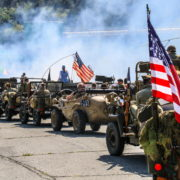 Rievocazione, reenacting, colonna della libertà ww2