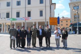 La fotografia ufficiale della presentazione Raduno Associazione Artiglieri