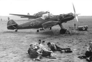 I Me 109 della Jagdgeschwader 53 sul fronte italiano (foto Bundesarchiv)