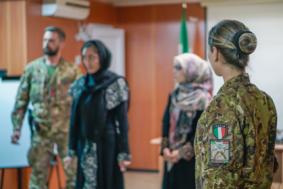 L'esercito addestra le poliziotte afghane (foto Esercito Italiano)