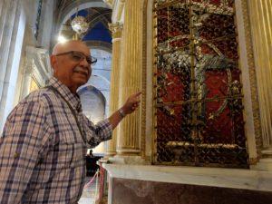 Ivan J. Houston durante la sua visita a Lucca nel 2018 reduce della ww2 (foto Paolo Pacini)