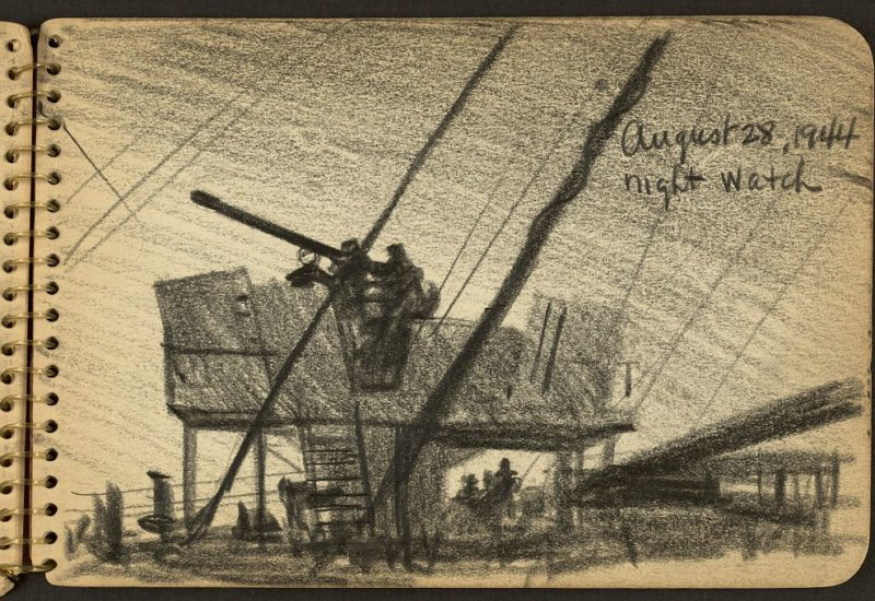 Gli schizzi di guerra di Victor Lundy; war sketchbooks (Library of Congress)