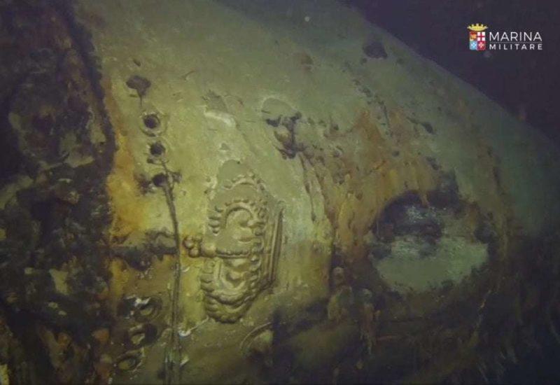 Ritrovato l'incrociatore Giovanni delle Bande Nere (foto Marina Militare)