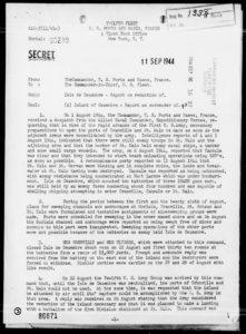 La relazione sulla resa di Cézembre (National Archives)