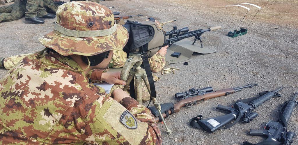 Sniper italiani si addestrano in Usa (foto esercito italiano)