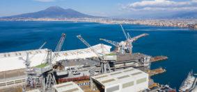 Il varo di Nave Trieste (foto Fincantieri)