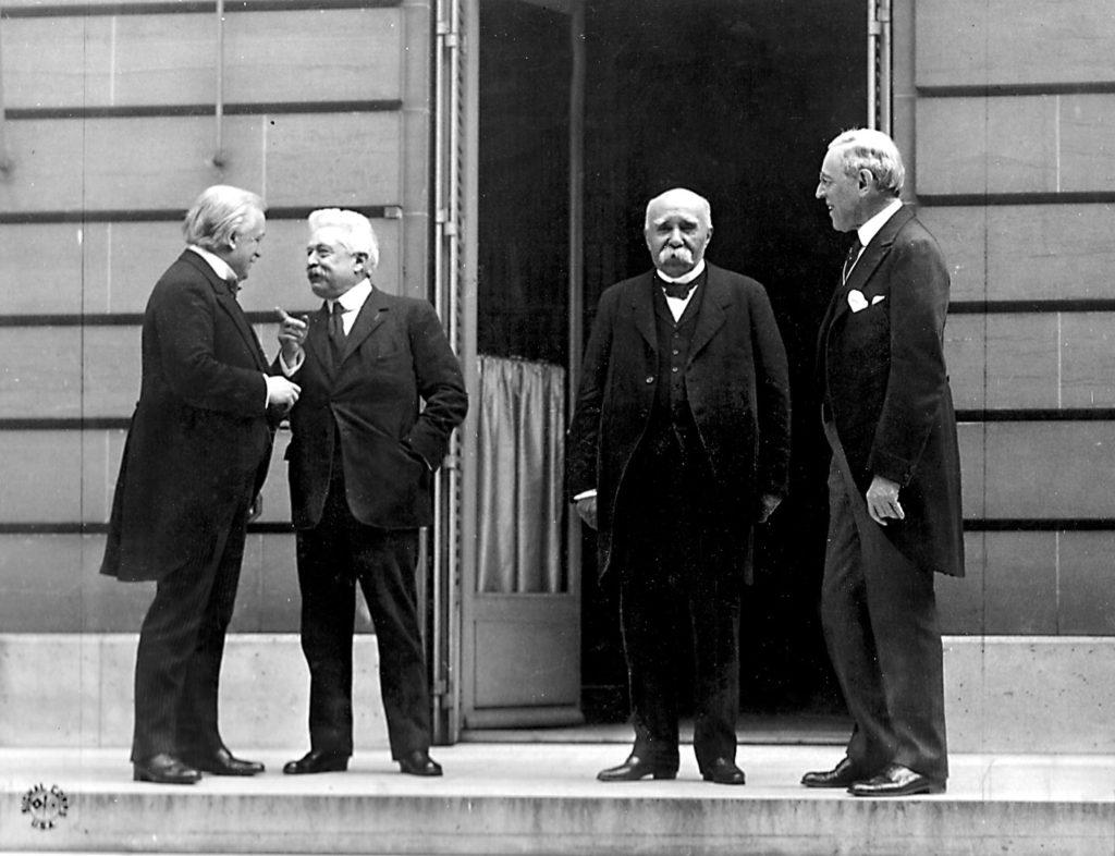 I vincitori al trattato di Versailles Di Edward N. Jackson (US Army Signal Corps) - U.S. Signal Corps photo,