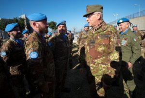 Il Generale Graziano incontra i militari italiani in Libano (foto Stato Maggiore Difesa)