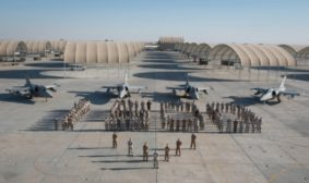 """gli AMX del Task Group """"Black Cats"""" hanno raggiunto il traguardo delle 1500 ore di volo in Teatro operativo (foto Aeronautica Militare)"""