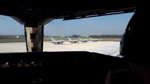 Pit stop italiano per i caccia spagnoli (foto Aeronautica Militare)