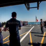 Esercitazione della Marina ad Haifa, Nave Scirocco (Foto Marina Militare)