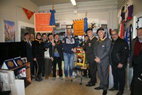 La delegazione degli Artiglieri d'Italia con il Sindaco Sergio Pirozzi