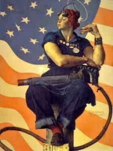 Rosie the riveter propaganda Usa ww2