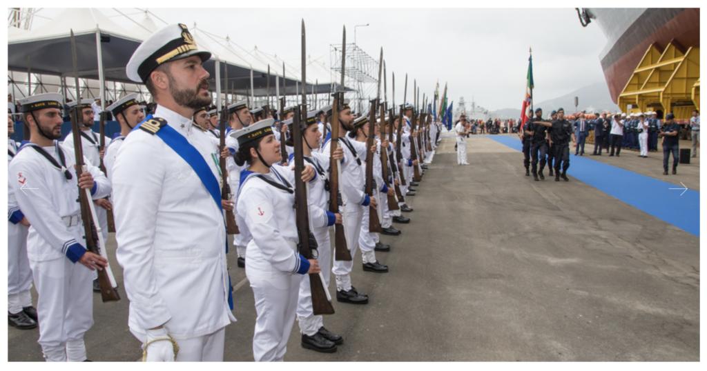 Varata a La Spezia la Paolo Tahon di Revel (foto Marina Militare)