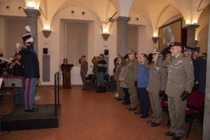 La banda dell'esercito all'istituto geografico militare (foto Rufino/Igm)