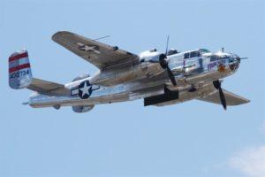 B25 Mitchell in volo nel 65 anniversario del Raid (foto Usaf)