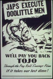 Il poster della propaganda Usa dopo l'uccisione dei raiders da parte dei giapponesi