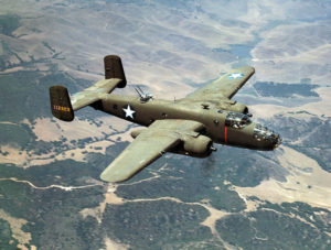 B 25 Mitchell in volo sulla california (United States Library of Congress's Prints and Photographs division)