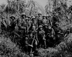 Marines impegnati nella guerra del Pacifico