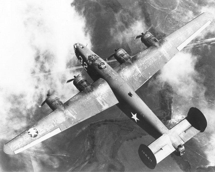 IL B24 dall'alto (foto Usaaf)