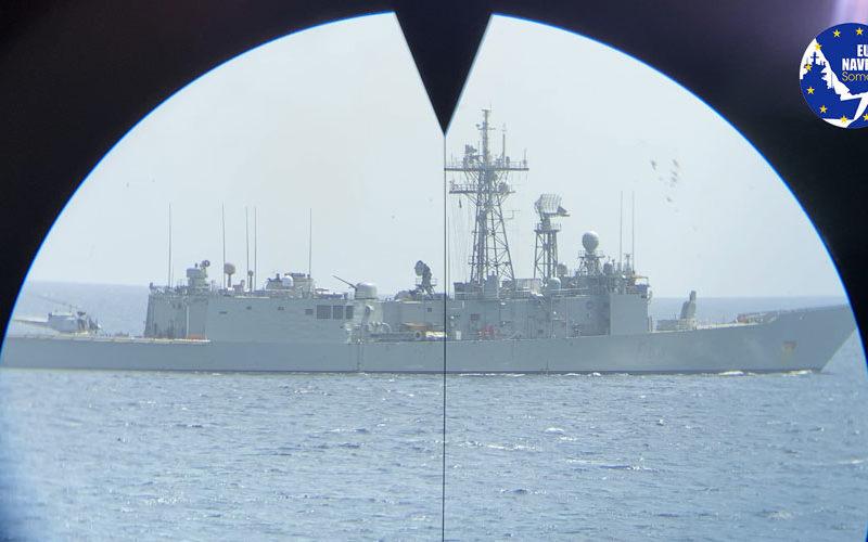 Dal mirino di Nave Bergamini (foto Marina Militare)