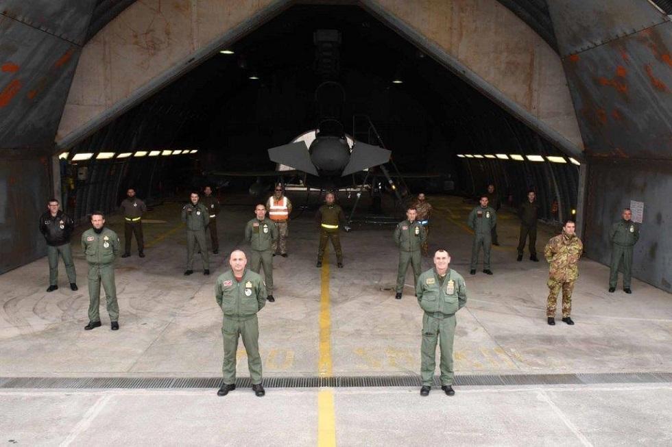 Il personale nella base di Istrana