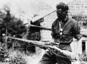 Soldato americano con un M1903 Sniper Prima guerra mondiale