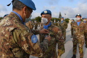 Unifil, United Nation medal per i militari italiani