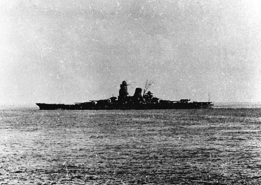 La Musashi in navigazione