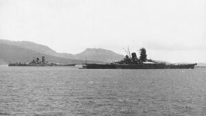 Yamato e Musashi insieme in navigazione