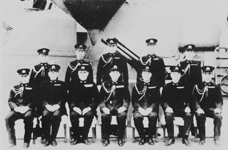 Gli ufficiali in comando sulla Yamato