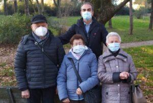 Bruno, Mafalda e Giuliana Naldi con Matteo Incerti