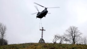 Esercito: riposizionata la Croce del Sasso di Simone