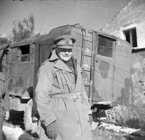 Il generale neozelandese Bernard Freyberg )IVM)