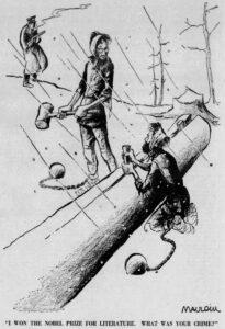 La vignetta su Pasternak che valse il secondo Pulitzer a Mauldin