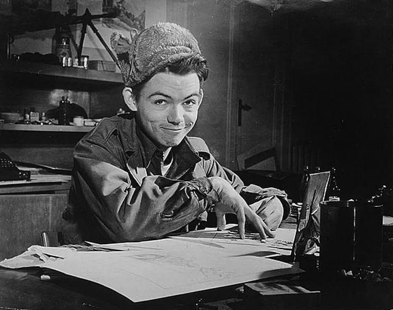 Bill Mauldin vignettista (Library of Congress)