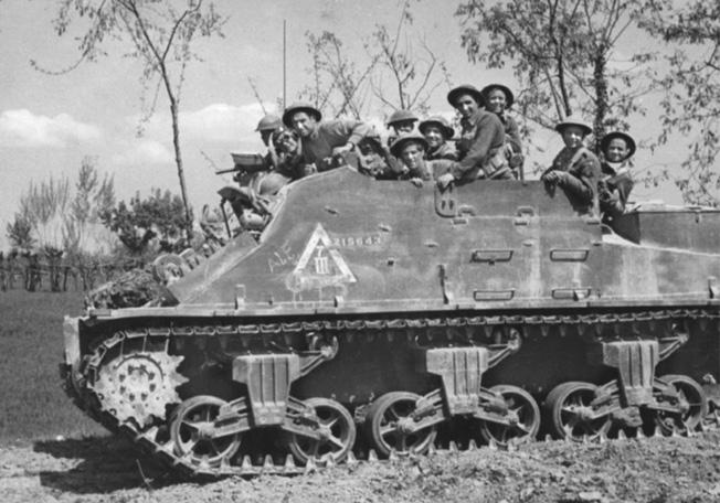 Irish fusiliers in azione sul fronte italiano