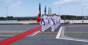 Passaggio di consegne tra gli ammiragli Enrico Credendino e Paolo Treu