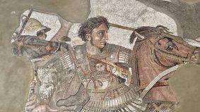 Alessandro Magno, mosaico della Battaglia di Isso (Museo Nazionale Archeologico Napoli)